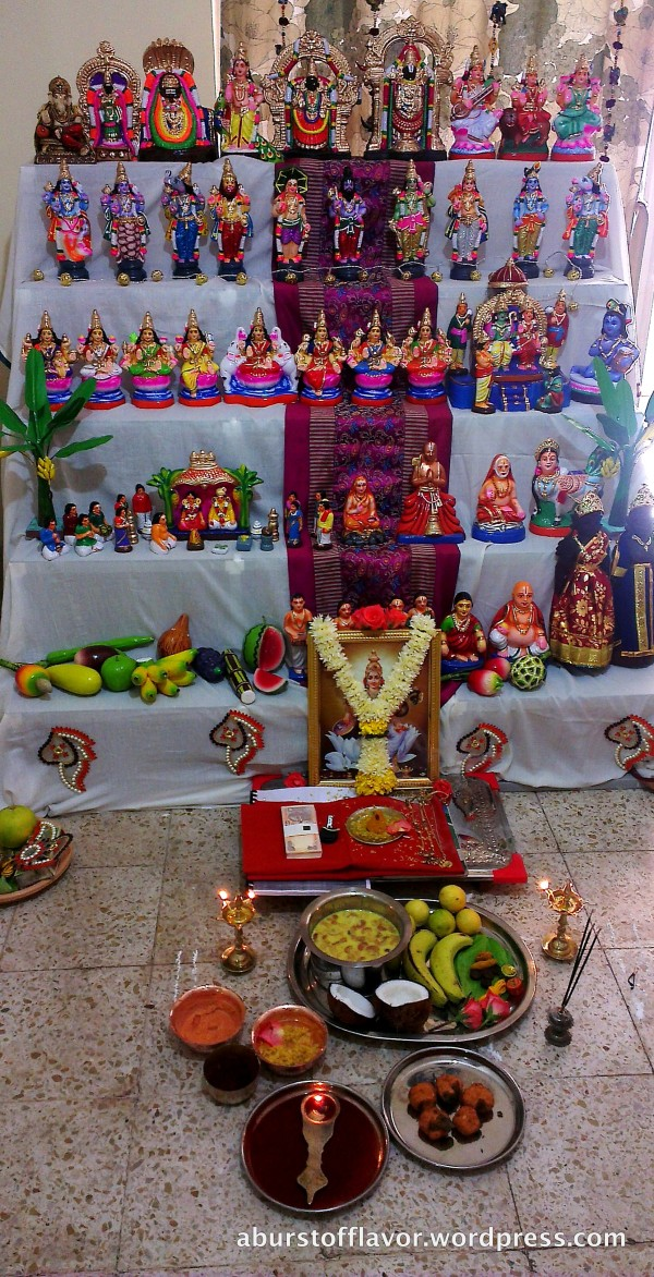 The Navarathri doll arrangement at our home (called 'Golu' in Tamil) in 5 steps